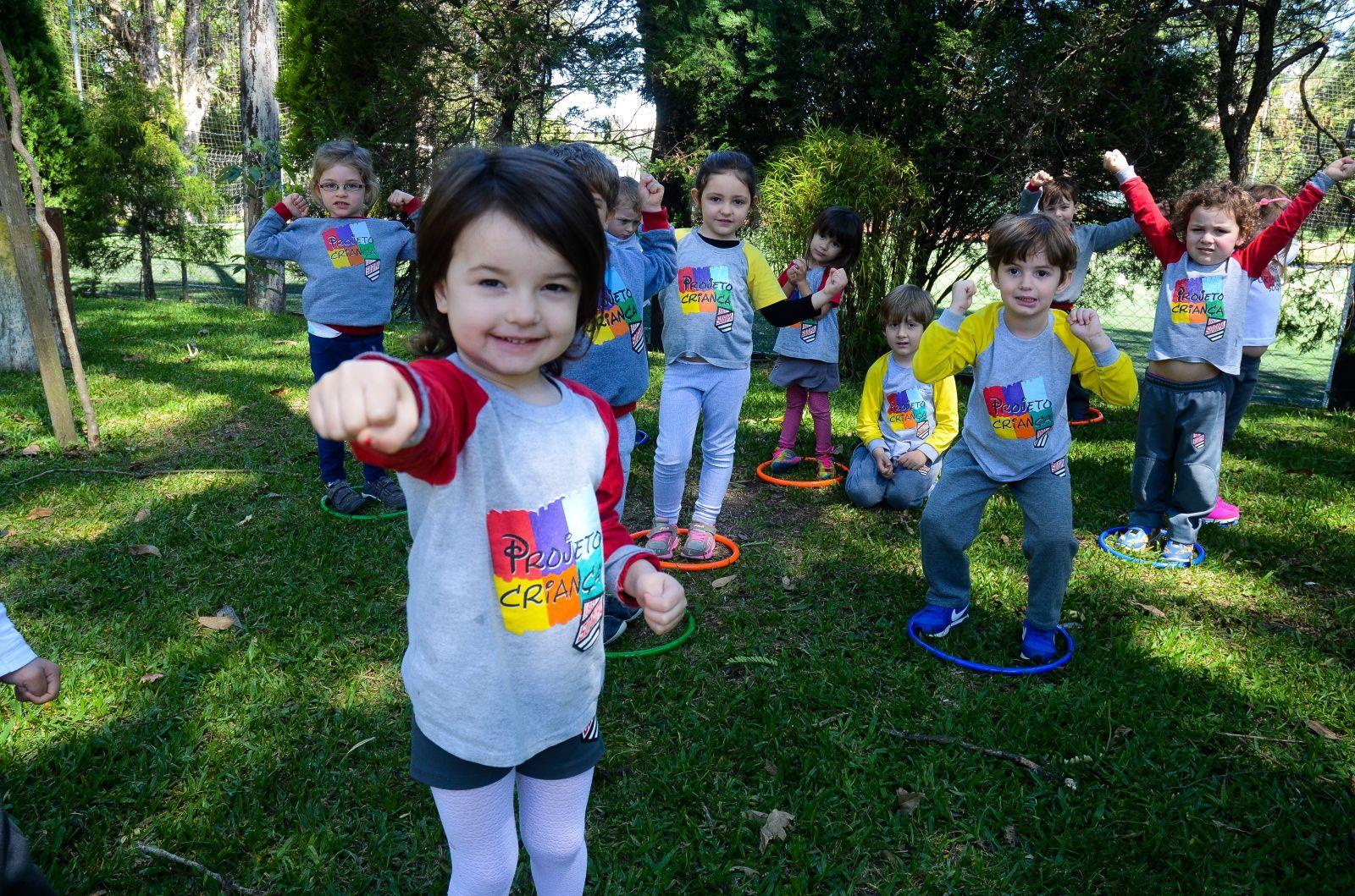 Crianças terão atividades de recreação e de iniciação esportiva