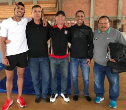 Da esquerda para a direita, Almir Júnior, Fernando Girardi, Carlos Wüppel, Daniel das Neves e Arataca.