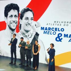 Técnico Kiko e Mayra Aguiar recebem o Prêmio Brasil Olímpico de melhor técnico e melhor atleta da temporada passada