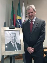 Ricardo Schwarz ganha foto na Galeria dos Ex-Presidentes da Sogipa. Ele ocupou o cargo entre 2014 e 2017