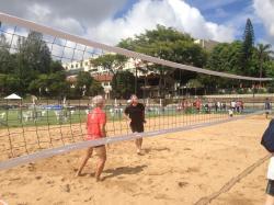 Inauguração das quadras de areia