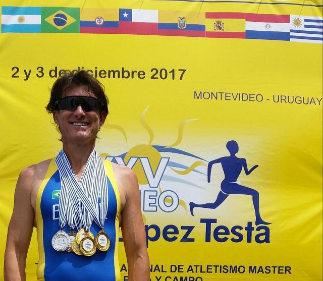Atleta máster da Sogipa, Jerry Costa conquista três ouros no Uruguai