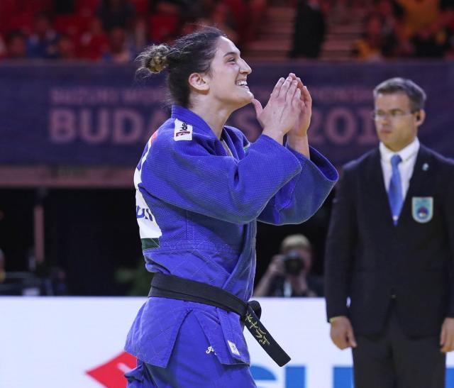 Mayra Aguiar volta aos tatames de seu bicampeonato mundial. Foto: Mayorova Marina/Divulgação IJF