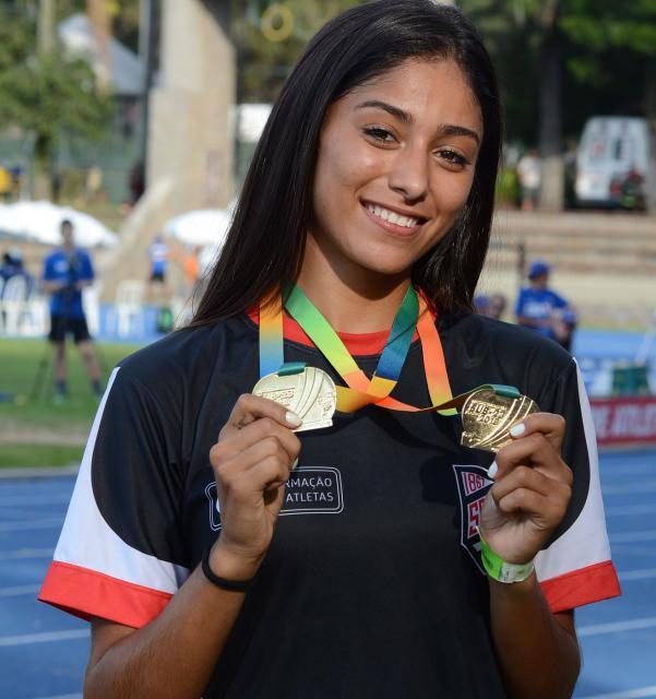 Pietra conquistou duas medalhas de ouro