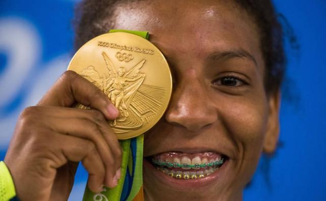 Rafaela Silva conquistou ouro nos Jogos do Rio, em 2016