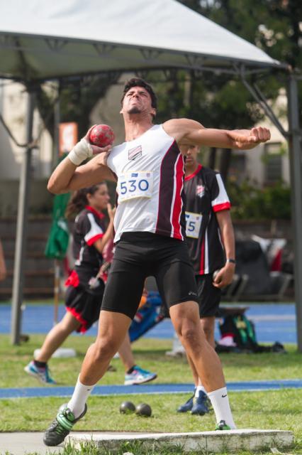 Saymon Hoffman é esperança de medalha da equipe sogipana. Foto: Daniel Nunes