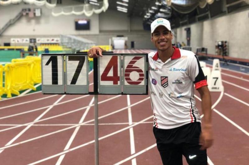 COM ÍNDICE! > Almir Júnior vence meeting em Ohio e confirma índice para o Pan-Americano de Lima