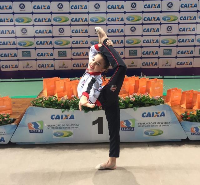 Thais chegou nas finais de três aparelhos e ficou em quinto lugar no individual geral.